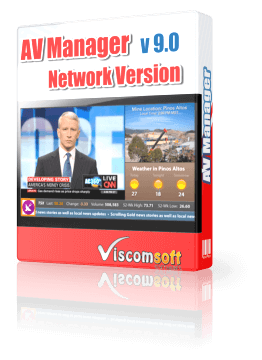 Digital Signage Desktop Software - AV Manager Network Version