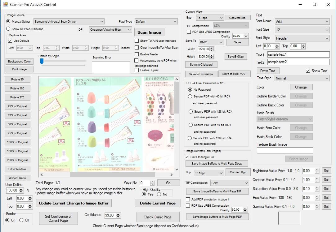 TWAIN Document Scanning SDK ActiveX | Scanner Pro SDK ActiveX